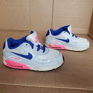 Nike 408112 116 Air Max 90 Toddler Girls White Blu